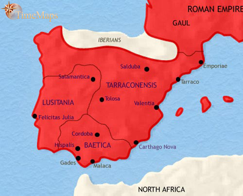 ALANDALUS SPAIN Prophets History Biographies - Portugal historical map