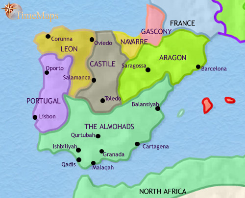 ALANDALUS SPAIN Prophets History Biographies - Spain historical map