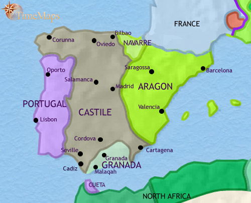 ALANDALUS SPAIN Prophets History Biographies - Portugal map history