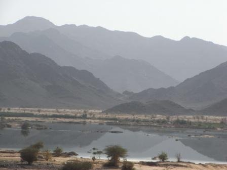 al ghaba dam - even though the rains were sufficient to form this picturesque lake, the valleys did not flood enough to flow over the dam wall..jpg